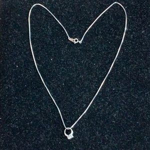 Jewelry - Diamond Ring Inspired Necklace